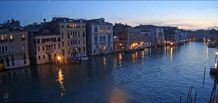 October evening on the Grand Canal.